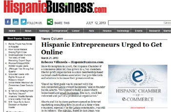 Hispanic Entrepreneurs Urged to Get Online