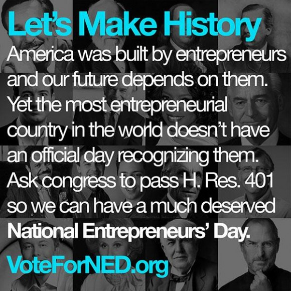 National Entrepreneurs' Day | #VoteForNED